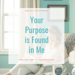 Your Purpose is Found in Me