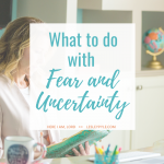 What to do with Fear and Uncertainty